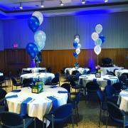 Great Lakes Room Banquet style set up with round tables and chairs